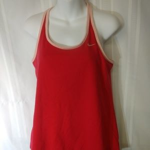 Nike Dri Fit XL athletic racer back top with bra